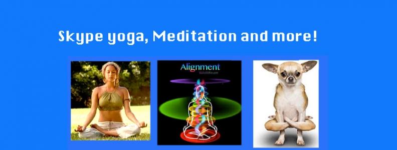 Yoga-Meditation-Online. Skype Class Daily